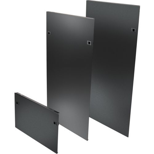 Heavy Duty Side Panels for SRPOST58HD Open Frame Rack with Latches - Rack panel kit - side - black - 58U