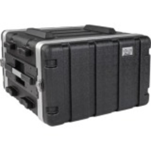 6U ABS Server Rack Equipment Flight Case for Shipping & Transportation - Shipping case - black - 6U - 19 inch