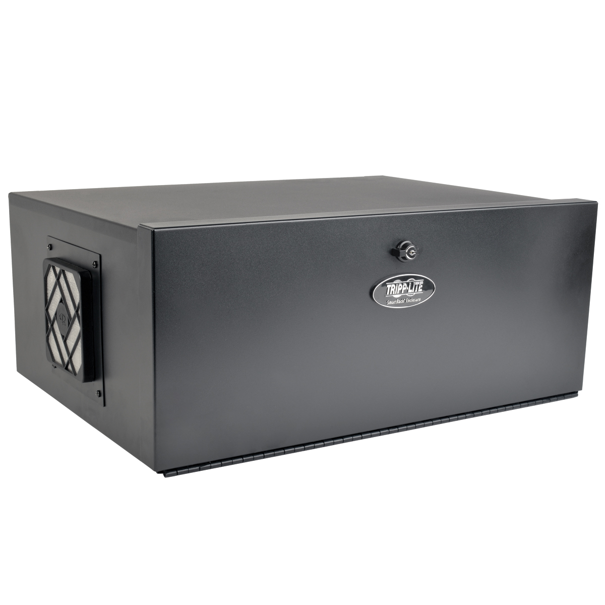5U Security DVR Lockbox Rack Enclosure 60lb Capacity Black - Rack - cabinet - black - 5U