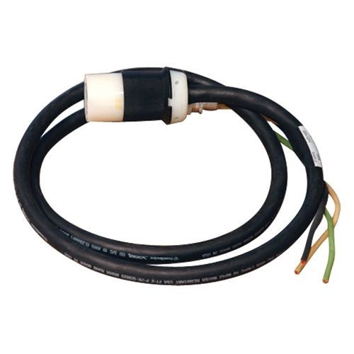 25ft Single Phase Whip 208/240V L6-30R for Breakered 3-Phase Distribution Cabinets 25 - Power cable - hardwire 3-wire (1PH + N + G) (F) to NEMA L6-30 (F) - AC 240 V - 28 ft - black - for Power Distribution Center for 20-160kVA 3 Phase UPS