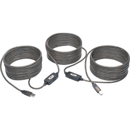 50ft USB 2.0 Hi-Speed Active Repeater Cable USB-A to USB-B M/M 50 - USB cable - USB Type B (M) to USB (M) - USB 2.0 - 50 ft - active molded - silver