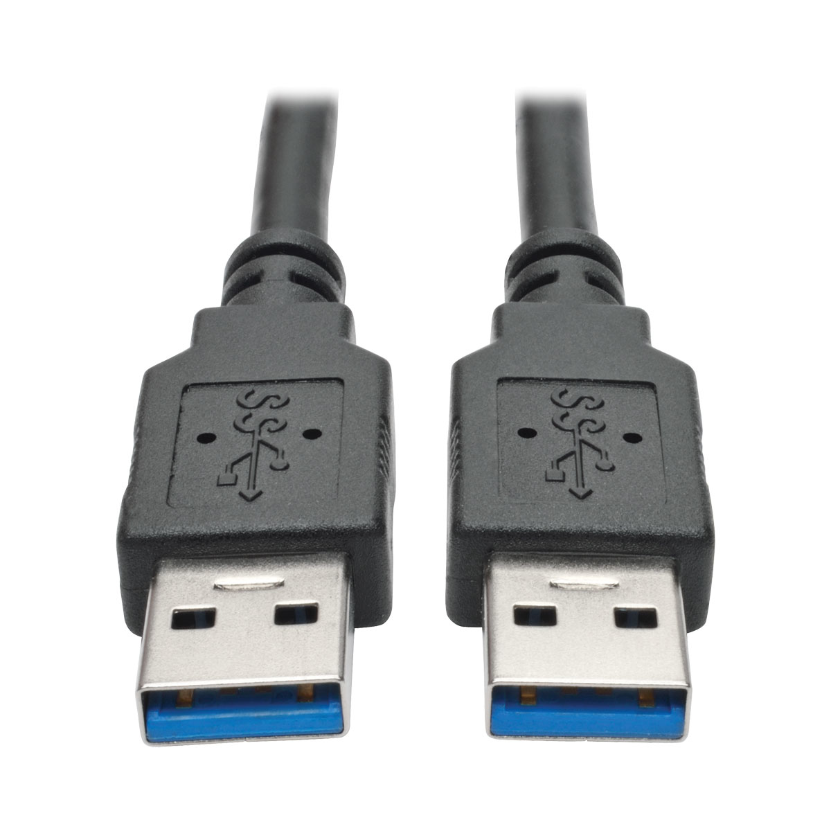 6ft USB 3.0 SuperSpeed A/A Cable M/M 28/24 AWG 5 Gbps Black 6 - USB cable - USB Type A (M) to USB Type A (M) - USB 3.0 - 6 ft - molded - black