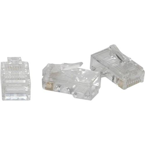 Modular Plug - Network connector - RJ-45 (M) - CAT 5 - stranded - clear (pack of 50)