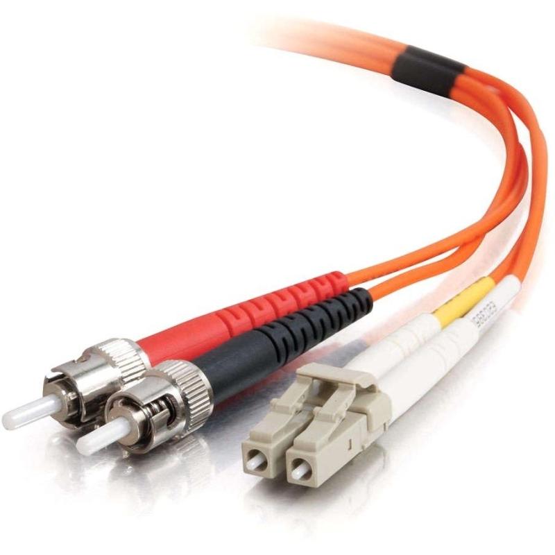 15m LC-ST 62.5/125 OM1 Duplex Multimode PVC Fiber Optic Cable (USA-Made) - Orange - Fiber Optic for Network Device - LC Male - ST Male - 62.5/125 - Duplex Multimode - OM1 - USA-Made - 15m - Orange