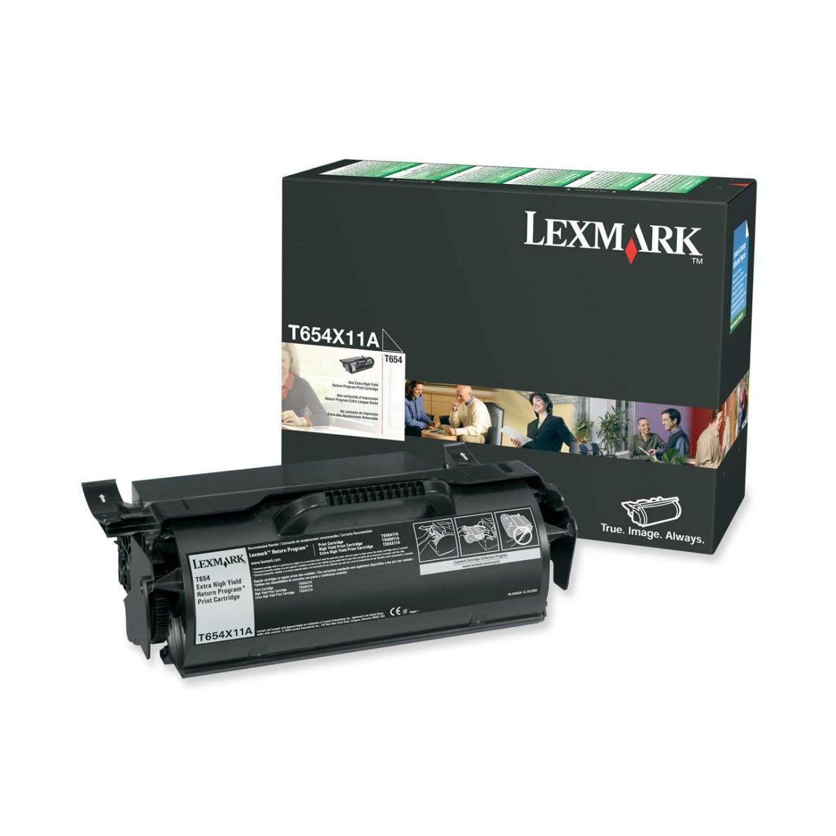 Extra High Yield - black - original - toner cartridge LCCP LRP - for Lexmark T654dn T654dtn T654n T656dne