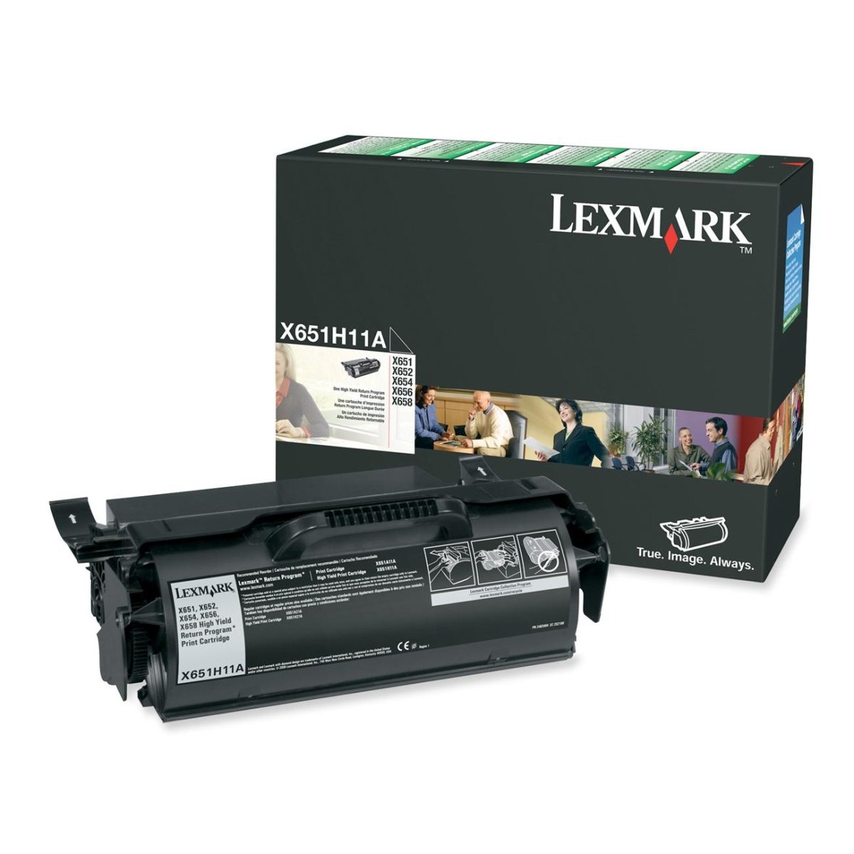 High Yield - black - original - toner cartridge LCCP LRP - for X651 652 652de 7462 654 656 6575 658 S651 S654
