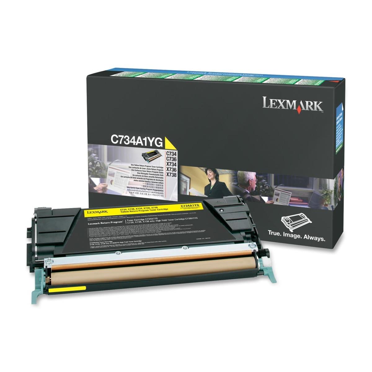 Yellow - original - toner cartridge LCCP LRP - for C734DN 734dtn 734dw 734n 736dn 736dtn 736N; X734de 736de 738de 738dte