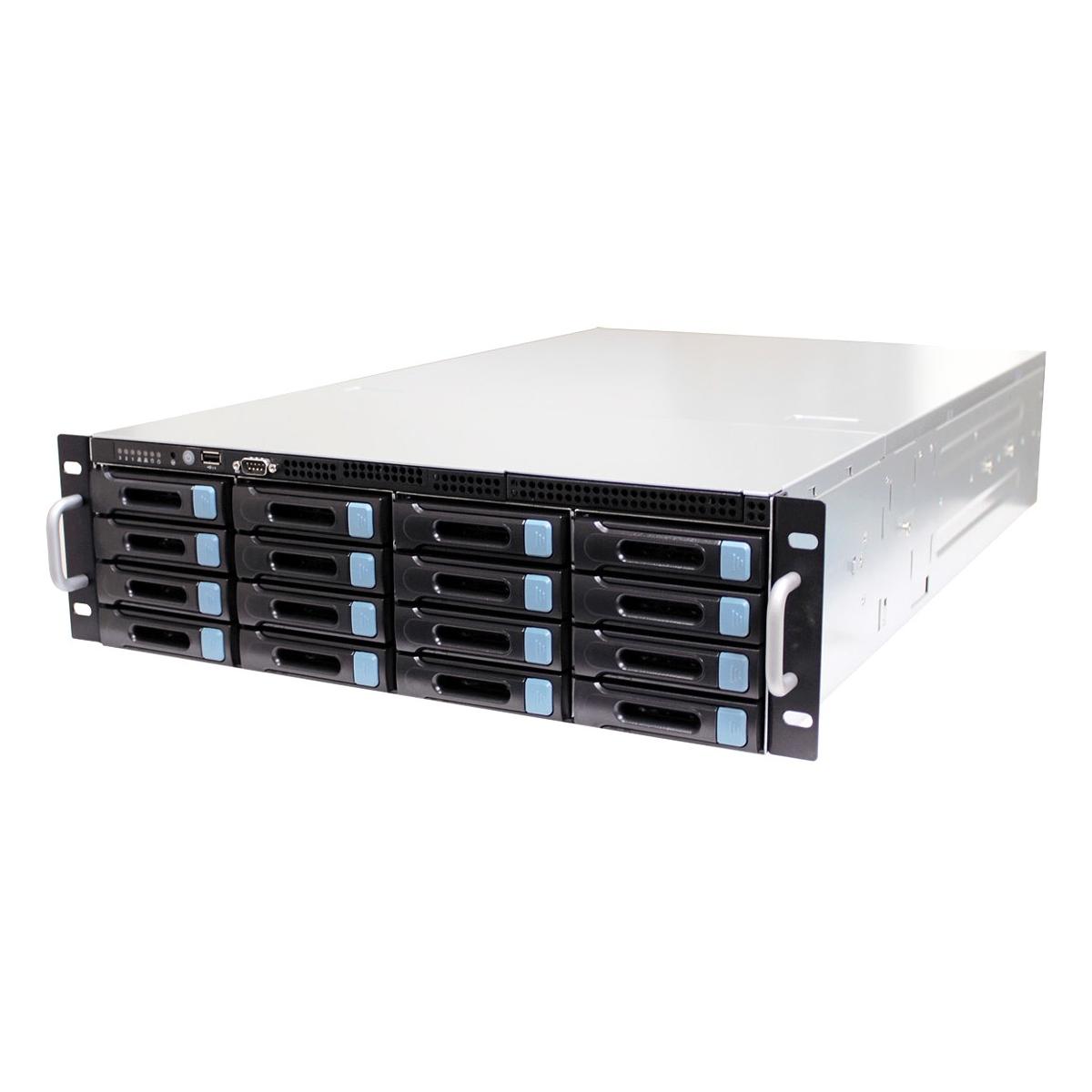 3U 19 16 X 3.5 + 2 X 2.5 BAYS STORAGE RACKMOUNT CHASSIS with 3 X 8038 FANS, 4-1 M