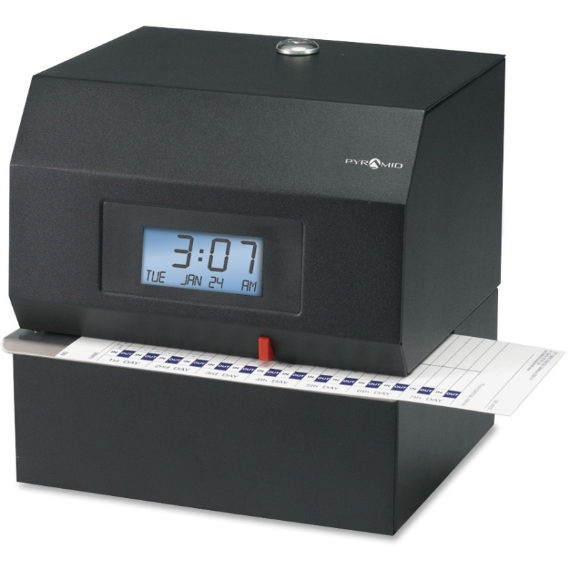 Time Systems Heavy-Duty Time Clock & Document Stamp - Card Punch/StampUnlimited Employees