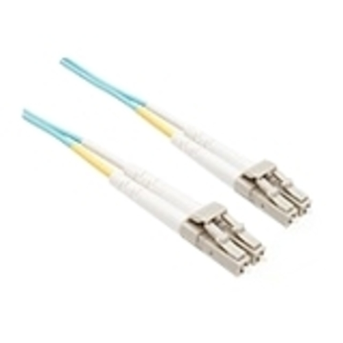 3 METER OM3 10 GIG FIBER OPTIC CABLE AQUA PLENUM JACKET 50/125 MICRON MULTIMOD