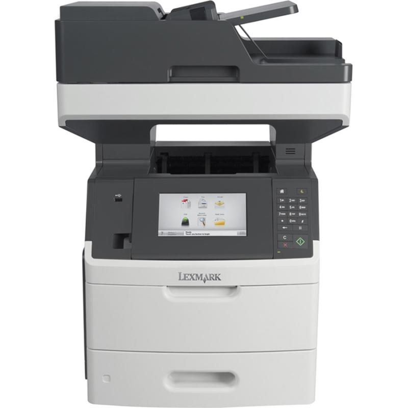 MX710DE Laser Multifunction Printer - Monochrome - Plain Paper Print - Desktop - Copier/Fax/Printer/Scanner - 60 ppm Mono Print - 1200 x 1200 dpi Print - 60 cpm Mono Copy - Touchscreen LCD - 600 dpi Optical Scan - Automatic Duplex Print - 650 shee