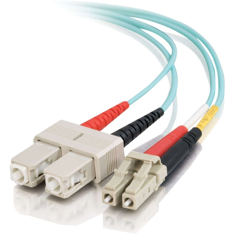 0.5m LC-SC 10Gb 50/125 Duplex Multimode OM3 Fiber Cable - Aqua - 1.6ft - Network cable - SC multi-mode (M) to LC multi-mode (M) - 0.5 m - fiber optic - 50 / 125 micron - OM3 - aqua