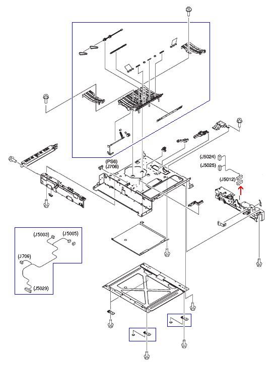 250/500 sheet feeder connector