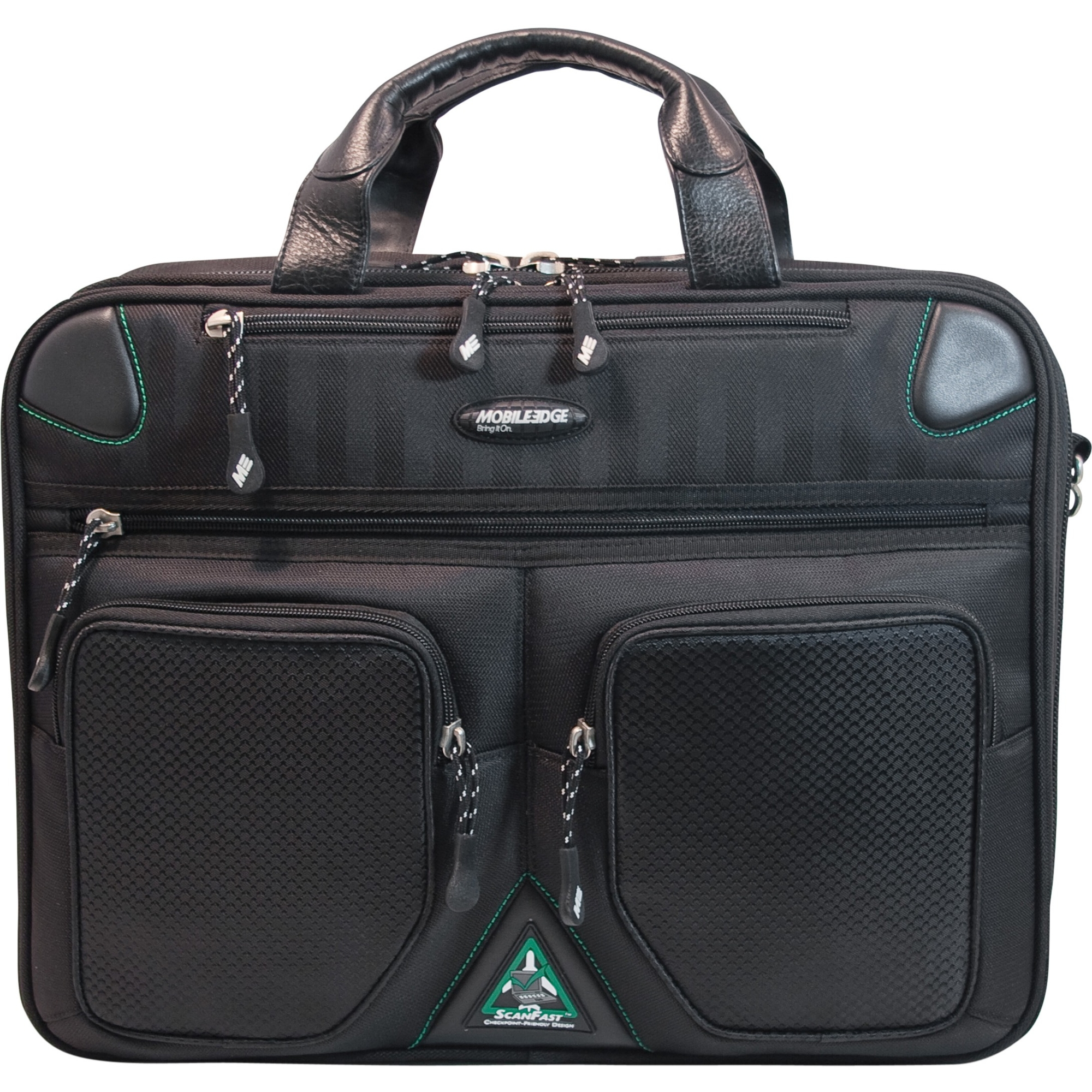 Edge ScanFast Checkpoint Friendly Briefcase 2.0 - Briefcase - Shoulder Strap - 16 inch to 17 inch Screen Support - 13.3 inch x 17 inch x 5 inch - Sorona - Black