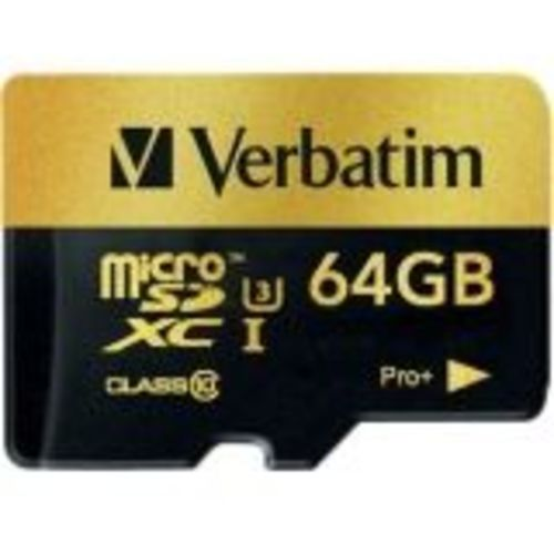 PRO+ - Flash memory card (microSDXC to SD adapter included) - 64 GB - UHS Class 3 / Class10 - microSDXC UHS-I