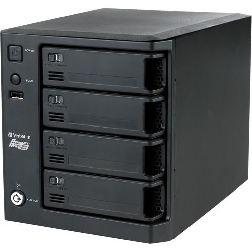 DRIVE USB/ESATA/ETHERNET 4TBPOWERBAY QUAD NAS with 4 REMOVABLE CTGS