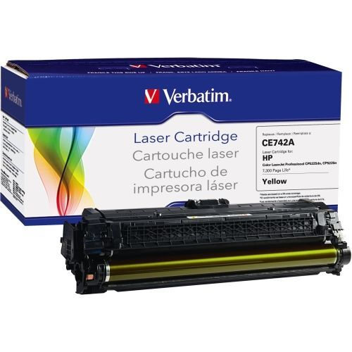 HP - Yellow - - toner cartridge (alternative for: HP CE742A) - for HP Color LaserJet Professional CP5225 CP5225dn CP5225n