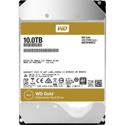 WD TDSourcing Gold Datacenter Hard Drive - Hard drive - 10 TB - internal - 3.5 inch - SATA 6Gb/s - 7200 rpm - buffer: 256 MB
