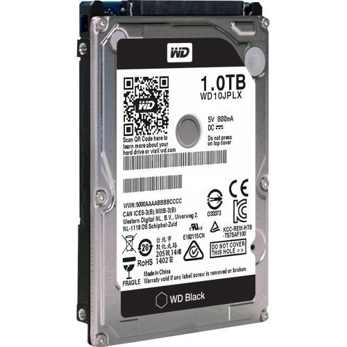 WD TDSourcing Black Performance Hard Drive - Hard drive - 1 TB - internal - 2.5 inch - SATA 6Gb/s - 7200 rpm - buffer: 32 MB