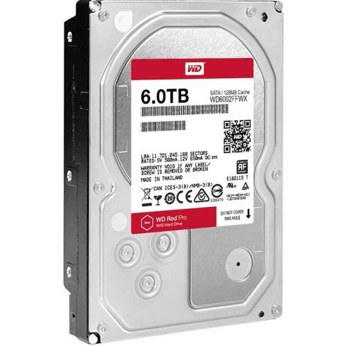 WD Red Pro NAS Hard Drive - Hard drive - 6 TB - internal - 3.5 inch - SATA 6Gb/s - 7200 rpm - buffer: 128 MB