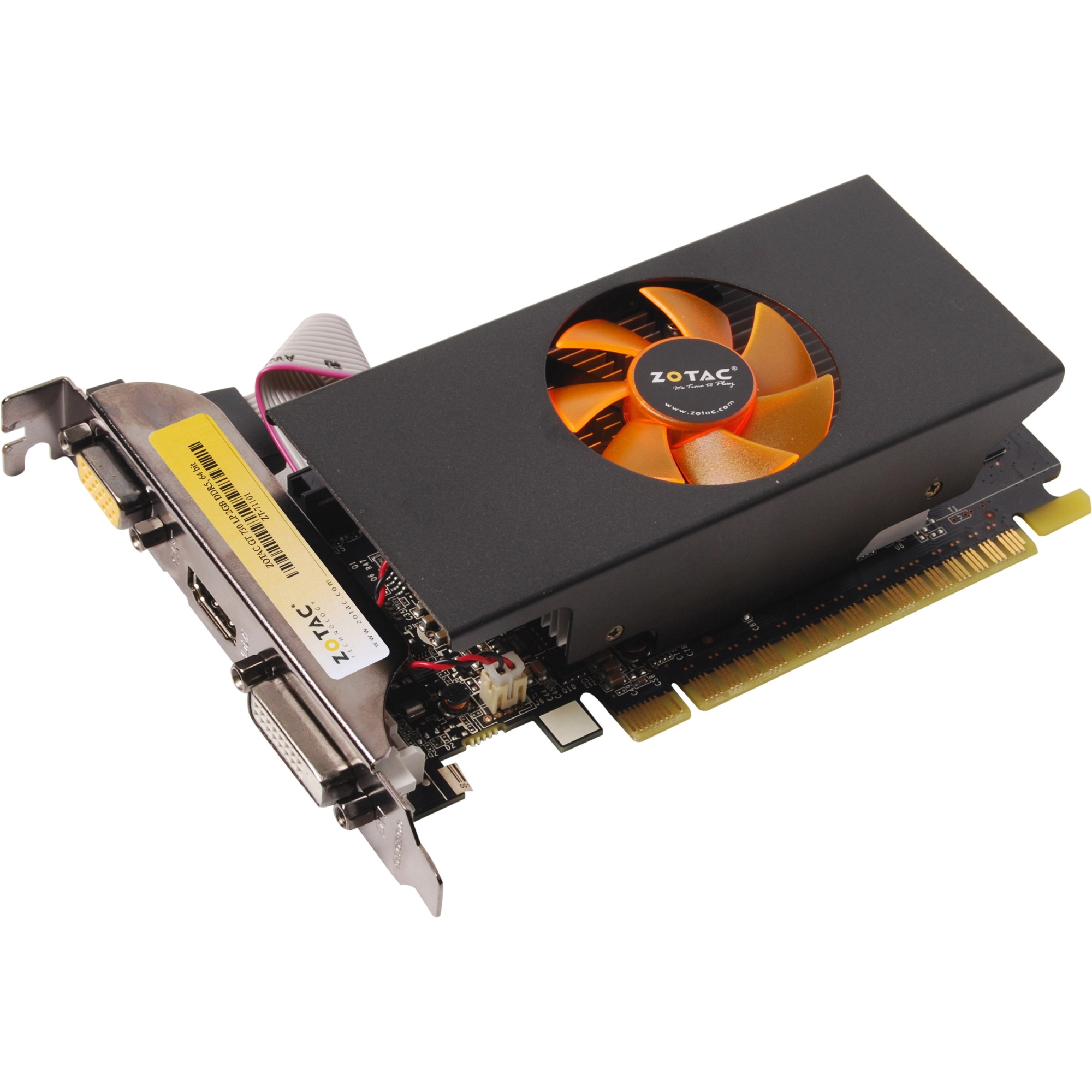 GeForce GT 730 Graphic Card - 902 MHz Core - 2 GB GDDR5 SDRAM - PCI Express 2.0 x16 - 5010 MHz Memory Clock - 2560 x 1600 - Fan Cooler - DirectX 12 OpenGL 4.4 - HDMI - DVI - VGA