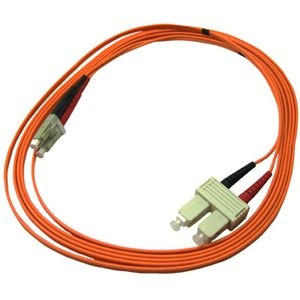 10-Gigabit Optimized Fiber Optic Patch Cord - Patch cable - LC multi-mode (M) - SC multi-mode (M) - 6.6 ft - fiber optic - 50 / 125 micron - purple