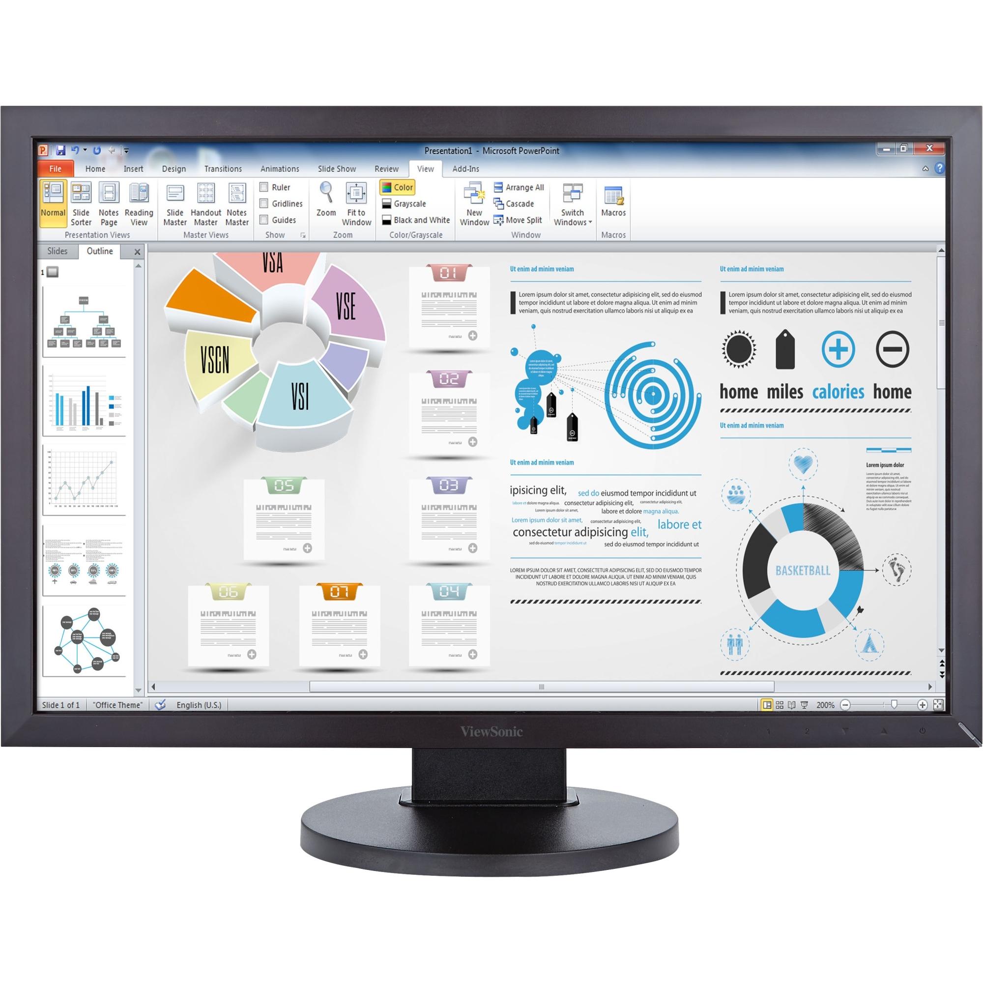 24 inch LED LCD Monitor - 16:10 - 5 ms - 1920 x 1200 - 16.7 Million Colors - 250 Nit - 50000000:1 - WUXGA - Speakers - DVI - VGA - DisplayPort - USB - 30 W - Black - TCO Certified Displays
