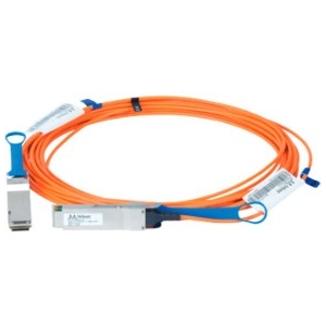 LinkX 100Gb/s VCSEL-Based Active Optical Cables - InfiniBand cable - QSFP to QSFP - 5 m - fiber optic - SFF-8665/IEEE 802.3bm - active halogen-free