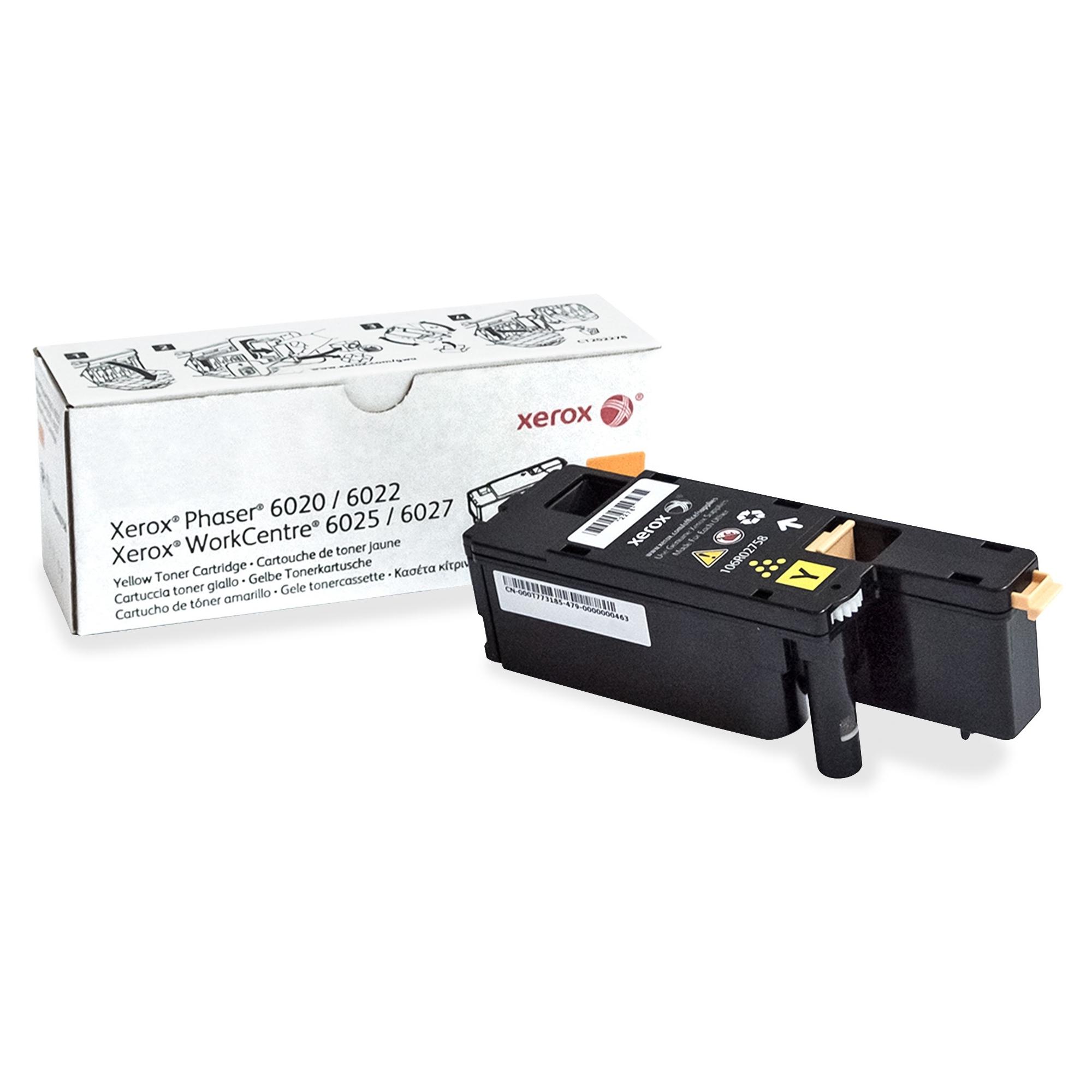 WorkCentre 6027 - Yellow - original - toner cartridge - for Phaser 6020V_BI 6022/NI 6022V_NI WorkCentre 6025V_BI 6027/NI 6027V_NI