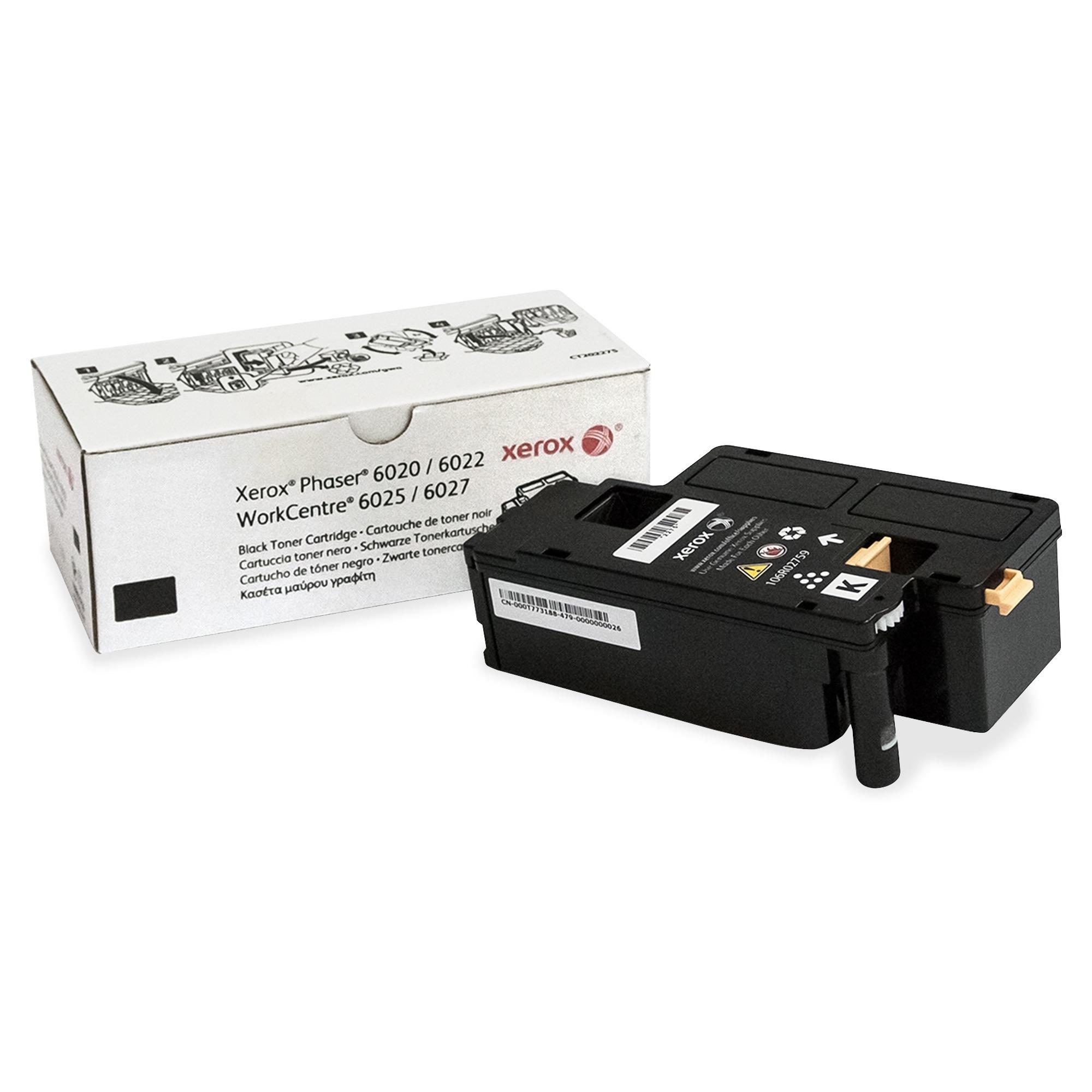 WorkCentre 6027 - Black - original - toner cartridge - for Phaser 6020V_BI 6022/NI 6022V_NI WorkCentre 6025V_BI 6027/NI 6027V_NI