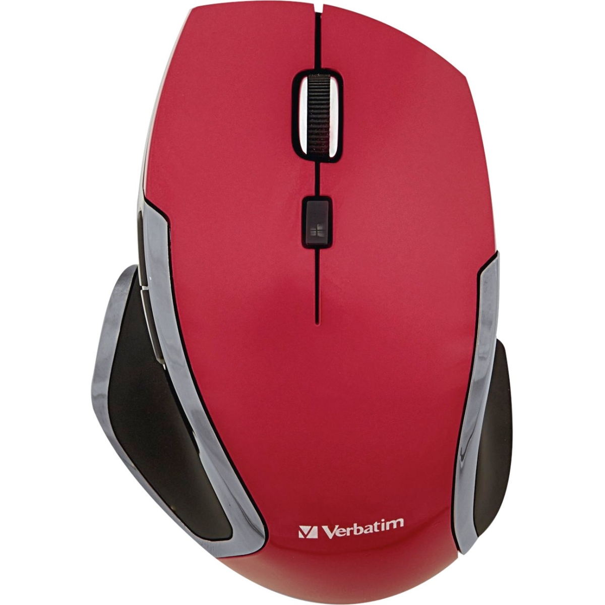 Deluxe - Mouse - 6 buttons - wireless - 2.4 GHz - USB wireless receiver - red