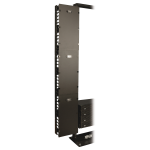 Open Frame Rack 6ft Vertical Cable Manager 12in Wide - Rack cable management duct with cover - black