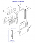 Right cover latch handle assembly