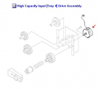 Deck drive motor (M303) only - Mounts in the 2 000-sheet paper feeder assembly