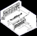 Left door assembly - Includes flapper pad left door facedown guide left door handle compression spring and screw