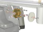Paper drive motor - Includes helical drive gear and mounting bracket