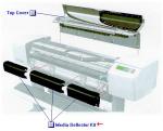 Media deflector kit - Kit includes three deflectors