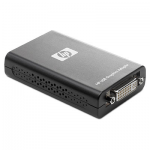 USB 2.0 graphics adapter - With DVI-I connector 8MB x 16 DDR Synchronous DRAM (SDRAM) bus-powered