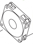 Delivery Fan (FM3) - Provides air to the paper delivery area