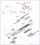 Jog guide assembly - Mechanical device that prevents sheets for jogging with the holding platform