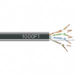 1000-FT BLACK CAT5E SOLID CABLE 350MHZ UTP CMR CM