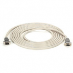 15-FT RS232 SHIELDED NULL MODEM CABLE METAL HOOD DB9 MALE/FEMALE