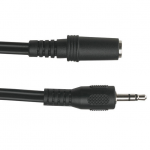 Box 3.5-mm Stereo Audio Cable 24 AWG Male/Female 15-ft. (4.5-m) - Mini-phone for Audio Device - 15 ft - 1 x Mini-phone Male Stereo Audio - 1 x Mini-phone Female Stereo Audio