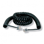 12-FT. BLACK COILED TELEPHONE H ANDSET CORD
