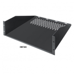 FIXED 3U 19IN RACKMOUNT VENTED SHELF 17.75IND 2-POINT