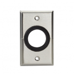 AV SPLIT STAINLESS STEEL WALLPL ATE 1-1/2IN RUBBER GROMMET