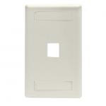 Box GigaStation2 1 Socket Network Faceplate - 1 x Socket(s) - Office White