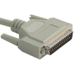 25ft DB25 Male to Centronics 36 Male Parallel Printer Cable - DB-25 Male - Centronics Male - 25ft - Beige