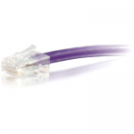15ft Cat5e Non-Booted Unshielded (UTP) Network Patch Cable - Purple - Category 5e for Network Device - RJ-45 Male - RJ-45 Male - 15ft - Purple
