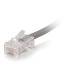 Cat5e Non-Booted Plenum-Rated Unshielded (UTP) Network Patch Cable - Patch cable - RJ-45 (M) - RJ-45 (M) - 35 ft - UTP - CAT 5e - plenum - gray